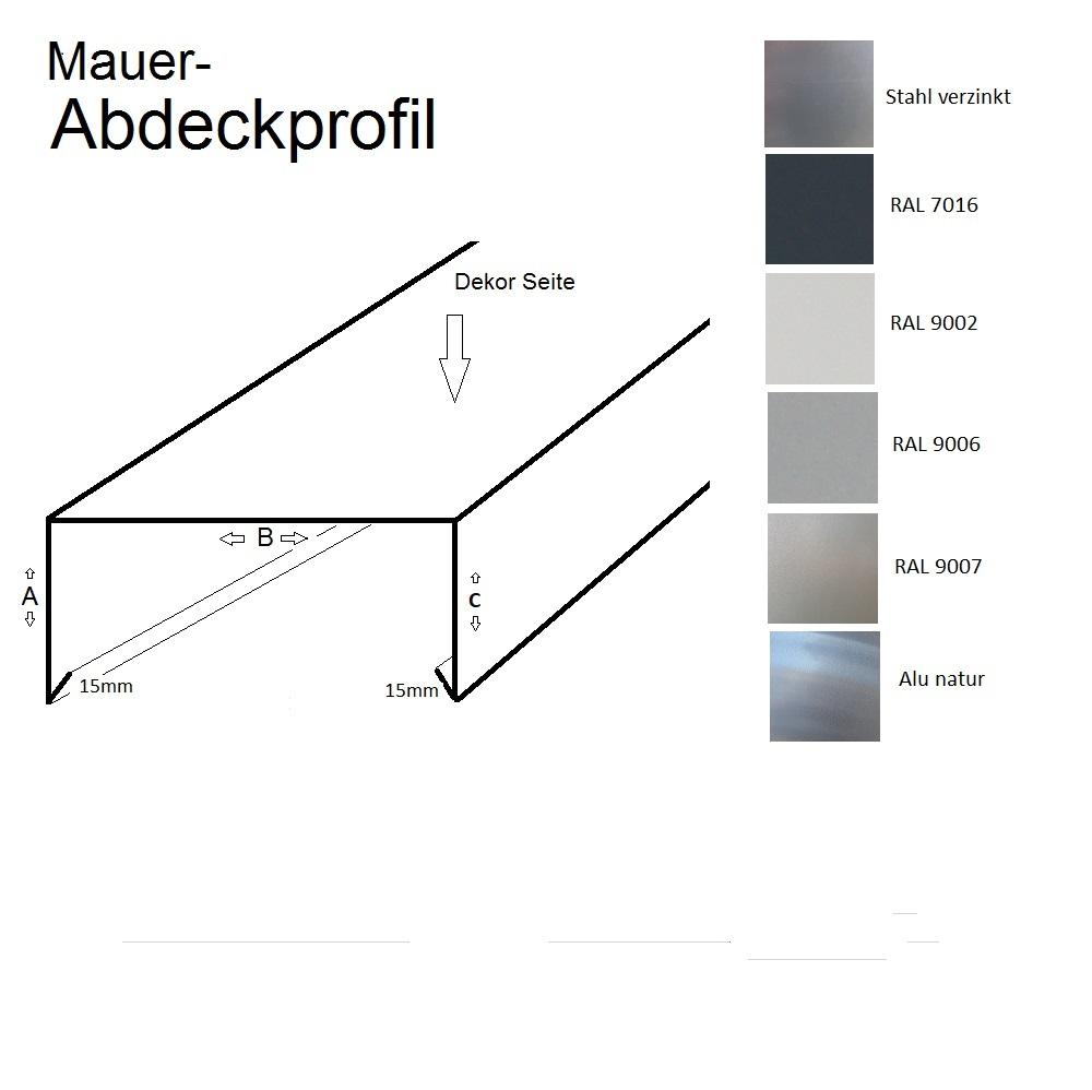 Sg Designbleche Gmbh Onlineshop Mauer Abdeckung Und Kantbleche